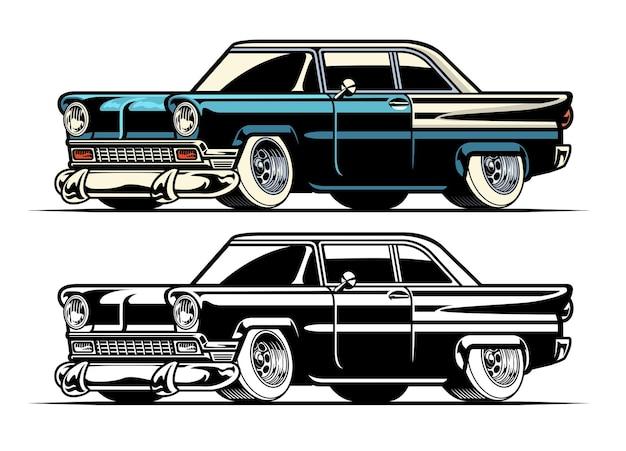 Carro clássico americano vintage
