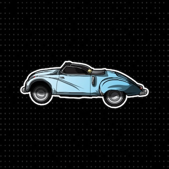 Carro clássico desenhado à mão
