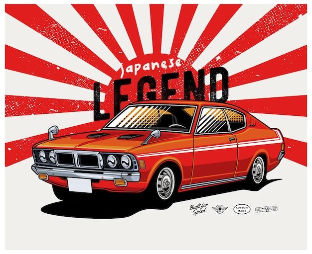 Carro clássico lenda japonesa