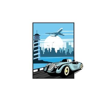 Carro clássico na cidade