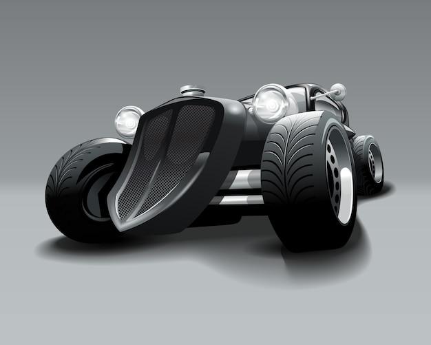 Carro clássico preto do hot rod do vintage