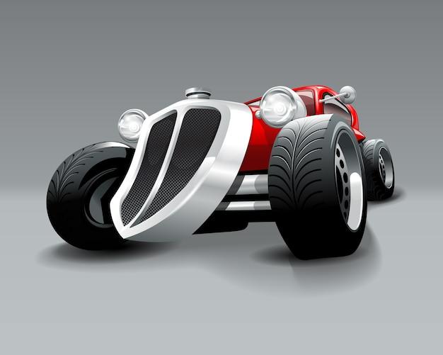 Carro clássico vermelho feito sob encomenda do hot rod do vintage.