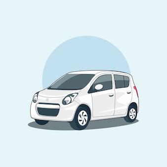 Carro compacto branco