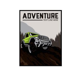 Carro de aventura nas colinas