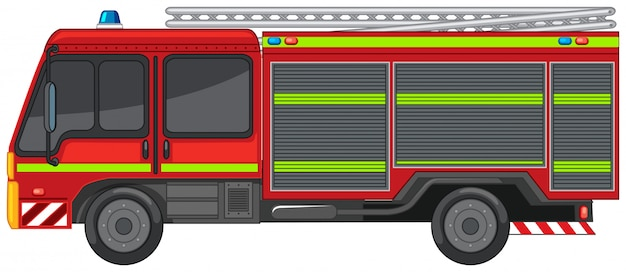 Carro de bombeiros em branco