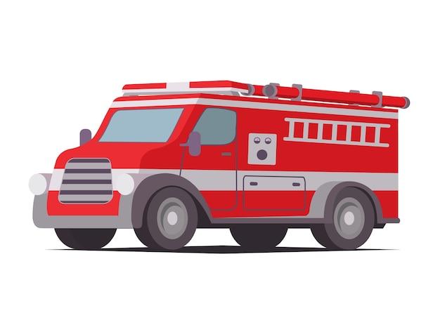 Carro de bombeiros veículo vermelho de serviço de emergência carro de bombeiros vermelho com escada