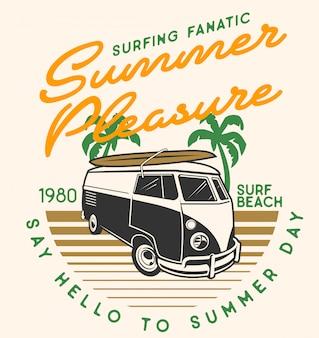 Carro de campista de prazer de verão
