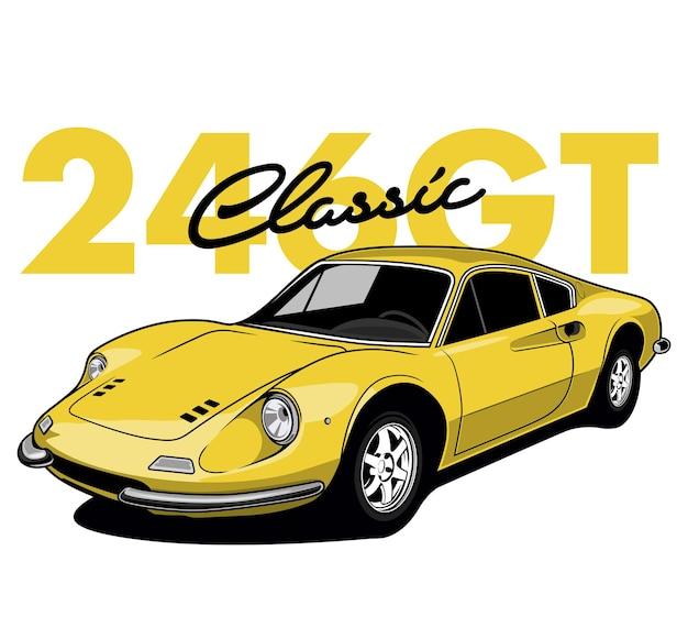 Carro de corrida amarelo