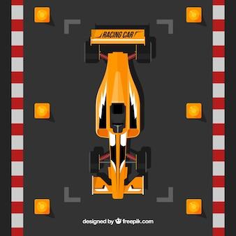 Carro de corrida de fórmula 1 laranja