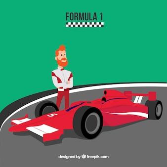 Carro de corrida de fórmula 1