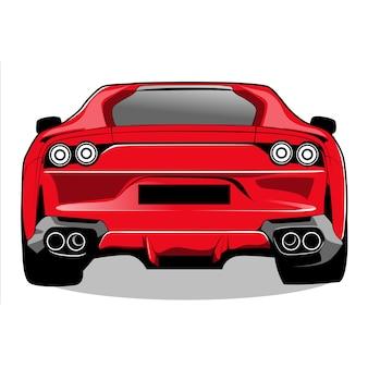 Carro de corrida vermelho