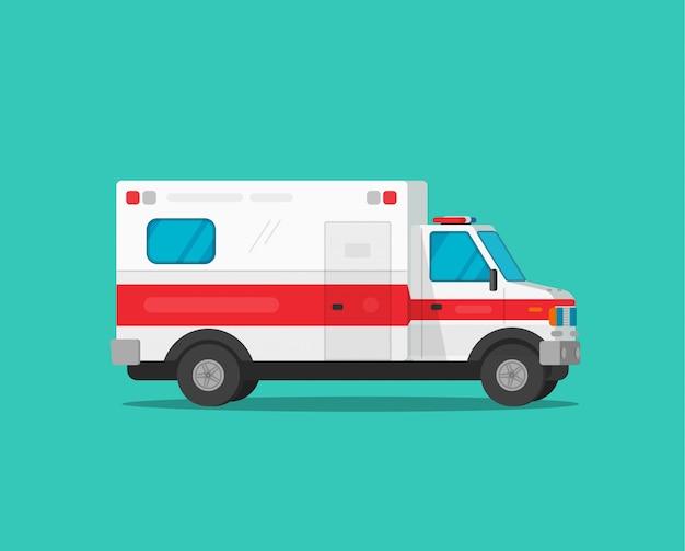 Carro de emergência de ambulância ou veículo médico
