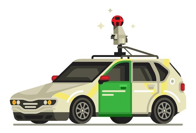 Carro de exibição de rua do google