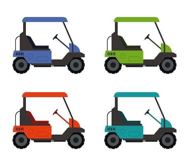 Carro de golfe em branco
