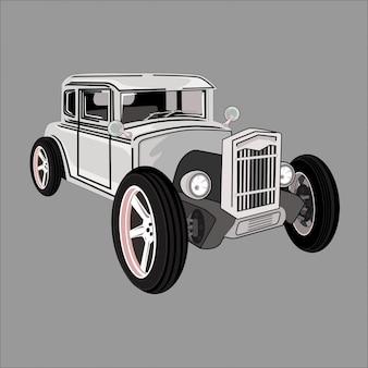 Carro de ilustração dos desenhos animados, hotroad