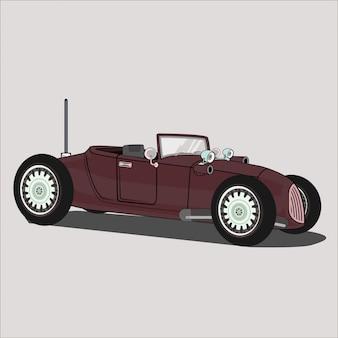 Carro de ilustração, estrada quente 1782