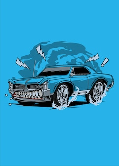 Carro de músculo azul