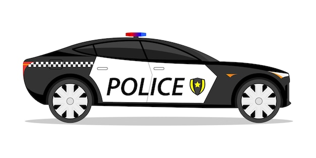 Carro de polícia, carro esportivo, carroçaria rápida
