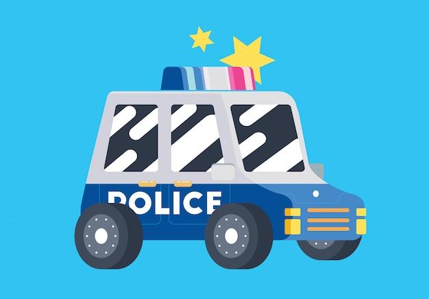 Carro de polícia de polícia plana bonito