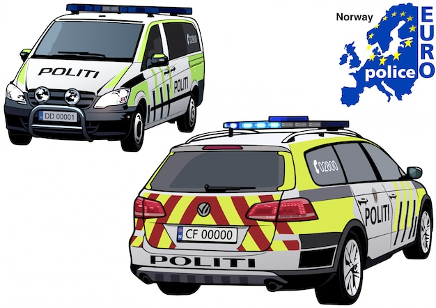 Carro de polícia norueguês