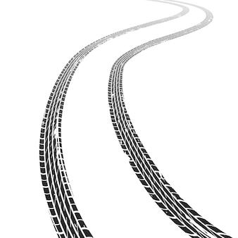 Carro de rastreamento de pneus. estrada suja grunge pneu faixas corrida borracha roda veículo motocross horizonte velocidade textura marcação