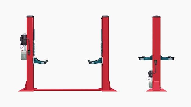 Carro de serviço elevadores vista frontal e lateral em coleta isolada