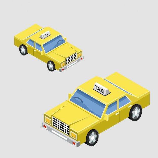 Carro de táxi isométrico