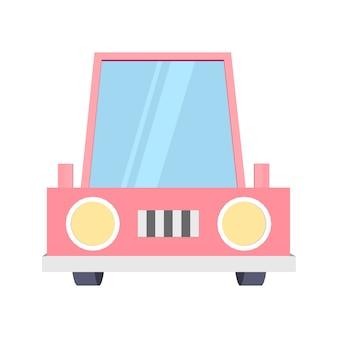 Carro engraçado dos desenhos animados
