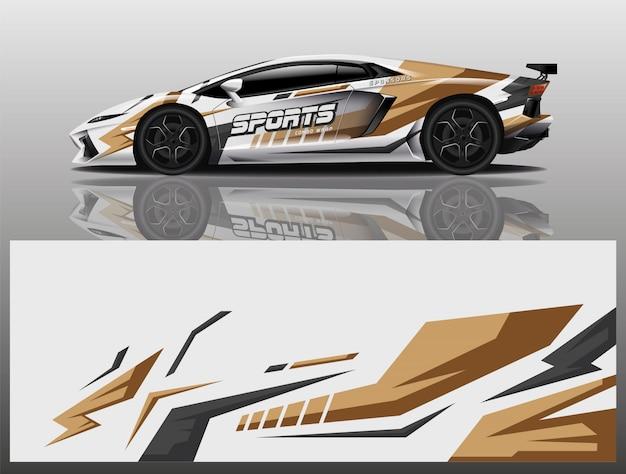 Carro esporte decalque envoltório projeto vector
