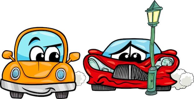 Carro esporte disparou ilustração dos desenhos animados