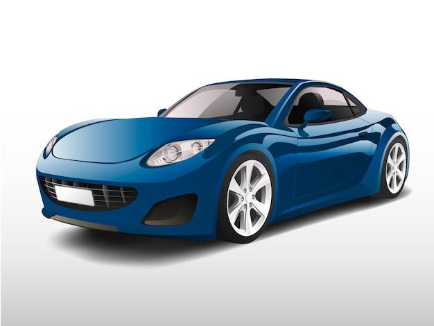 Carro esportivo azul isolado no branco vector