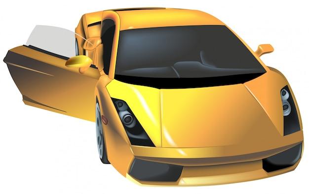 Carro esportivo de luxo