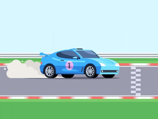 Carro esportivo na pista