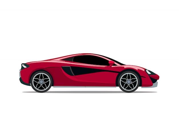 Carro esportivo super vermelho