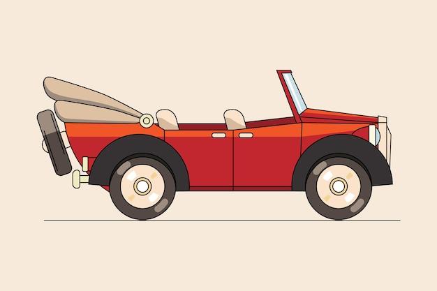 Carro estiloso em estilo retro
