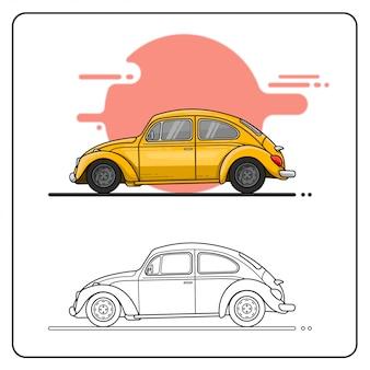 Carro fofo fácil editável