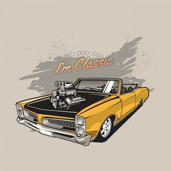 Carro hotrod clássico