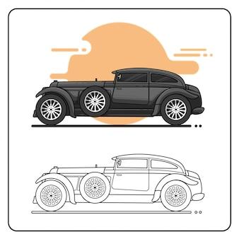 Carro masculino fácil editável
