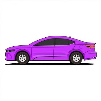 Carro moderno de ilustração