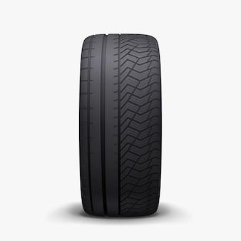 Carro realista mesclado pneu de inverno e verão com sombra suave