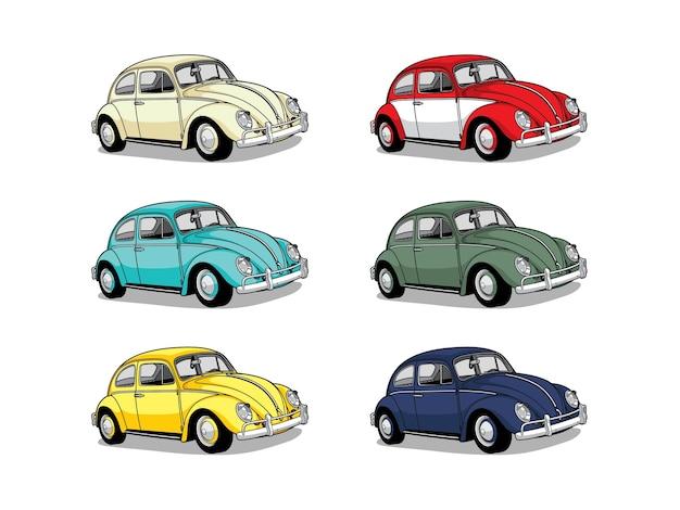 Carro retro colorido
