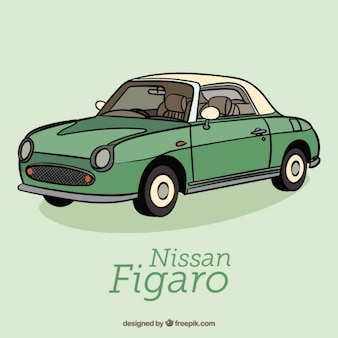Carro retro verde