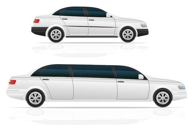 Carro sedan e limusine