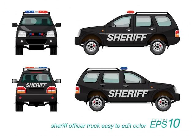 Carro suv do xerife