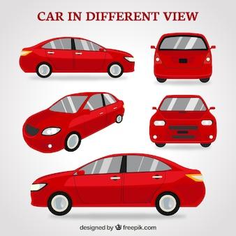 Carro urbano em diferentes vistas