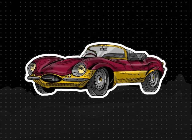 Carro vermelho clássico