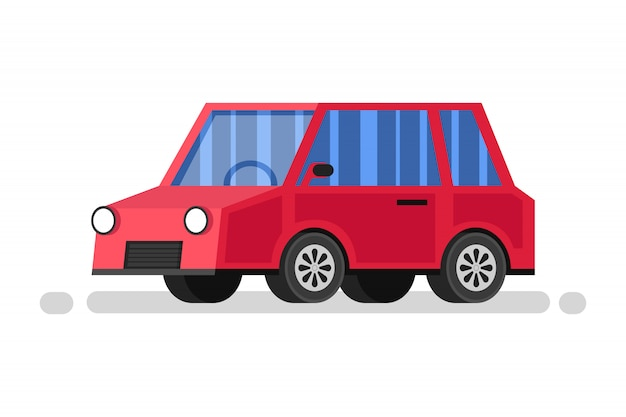 Carro vermelho dos desenhos animados