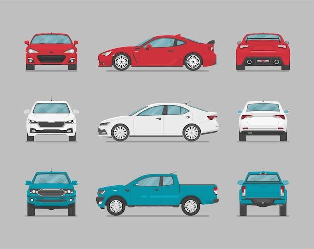 Carros de lados diferentes