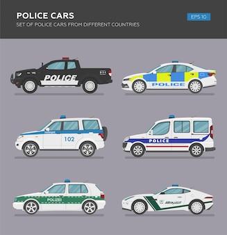 Carros de polícia de diferentes países