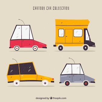 Carros desenhados à mão com estilo original